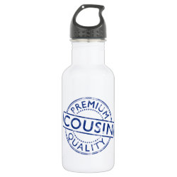 Water Bottle (24 oz) with Premium Quality Cousin design