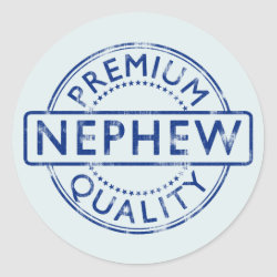 Round Sticker with Premium Quality Nephew design