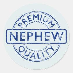 Round Sticker with Premium Quality Nephew design