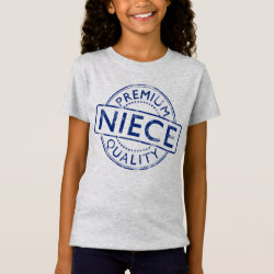 Girls' Fine Jersey T-Shirt with Premium Quality Niece design