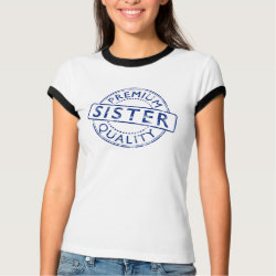 Ladies Ringer T-Shirt with Premium Quality Sister design