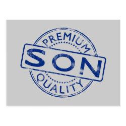 Postcard with Premium Quality Son design
