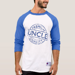 Men's Champion Raglan 3/4 Sleeve Shirt with Premium Quality Uncle design