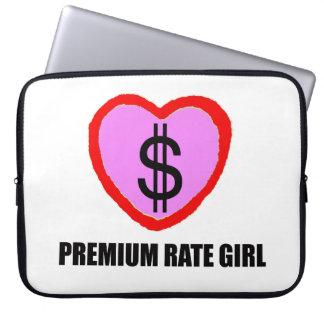 Premium Rate Girl Laptop Sleeve - Credit Cards