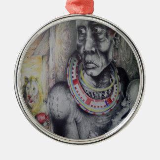 Premium Round Hakuna Matata Masai Lion Ornament