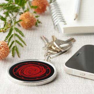 Premium Round Keychain BLACK HOLE SWIRL
