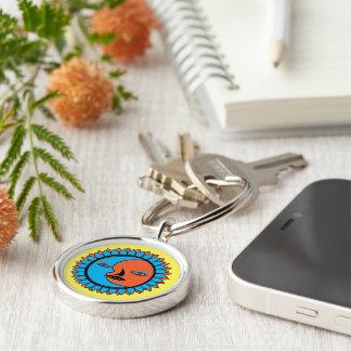 Premium Round Keychain MOON SUN REFLECTION