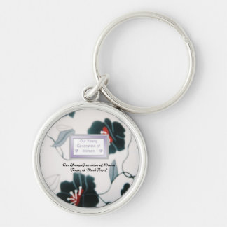 Premium Round Mentor Keychain Rages of Black Roses