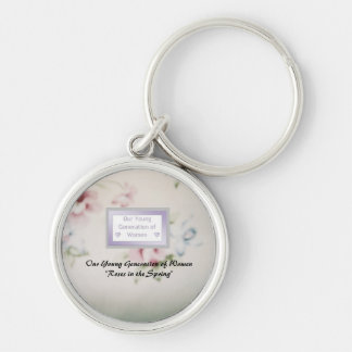 Premium Round Mentor Keychain Roses in the Spring