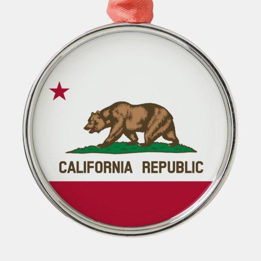Premium Round Ornament - Flag of California