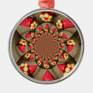 Premium Round Ornament STRAWBERRY VINTAGE