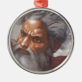 Premium Round Ornament with God's Face