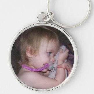 premium round photo keychain