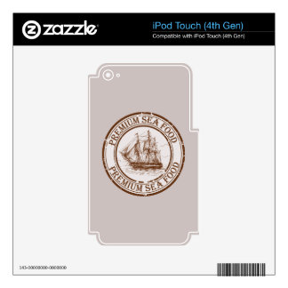 Premium Sea Food Travel Stamp Decals For iPod Touch 4G