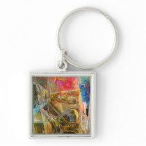 premium square colorful keychain