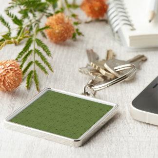 Premium Square Keychain MIDCENTURY MODERN STARBURS