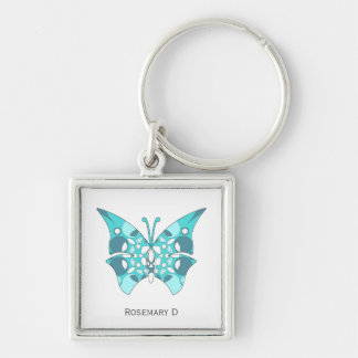 Premium Square Keychain with pattern