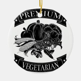 Premium vegetarian food label christmas tree ornaments