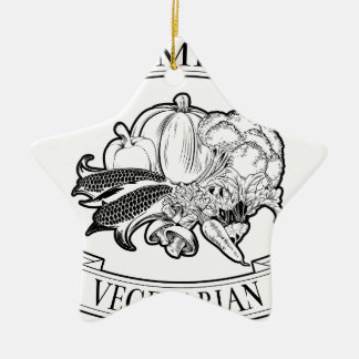 Premium vegetarian icon Double-Sided star ceramic christmas ornament