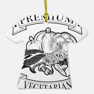 Premium vegetarian icon christmas tree ornament
