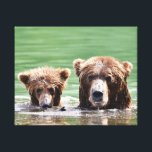 """Premium Wrapped Canvas 20x16 w/ grizzly bear<br><div class=""""desc"""">Premium Wrapped Canvas 20x16 w/ grizzly bear and cub</div>"""