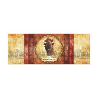 Premium Wrapped Canvas Buffalo Canvas Print