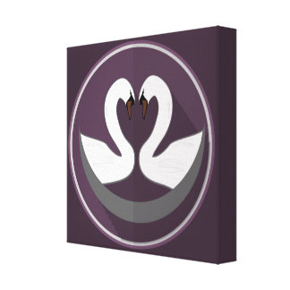 Premium Wrapped Canvas (Gloss) LOVE SWANS