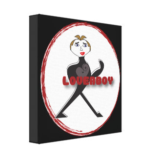 Premium Wrapped Canvas (Gloss) LOVERBOY CIRCLE LOG