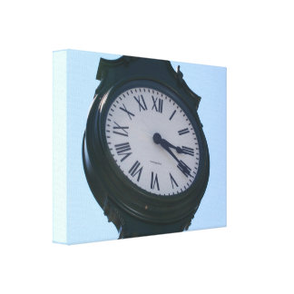 Premium Wrapped Canvas (Gloss) PHOTOGRAPH OF CLOCK