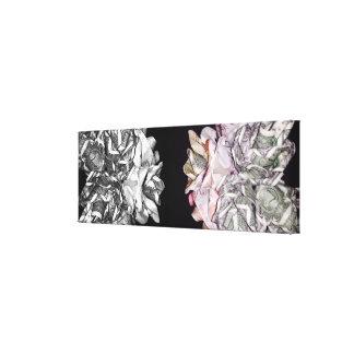 """Premium Wrapped Canvas """"Money Roses""""Noir&Chrome"""