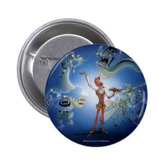 Prendedor del chapa del botón de la FANTASÍA del D Pin Redondo De 2 Pulgadas