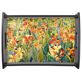 Prendergast - Bed of Flowers Food Tray