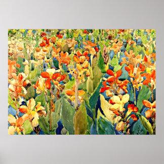 Prendergast - Bed of Flowers Poster
