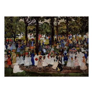 Prendergast - May Day, Central Park Poster