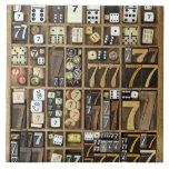 Prensa de copiar 4 azulejo cuadrado grande