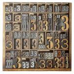 Prensa de copiar 5 azulejo cuadrado grande