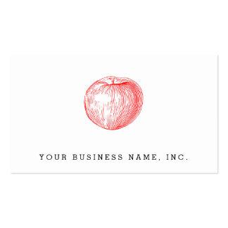 Prensa de copiar roja Apple de Apple de caramelo Plantillas De Tarjetas Personales