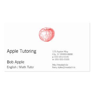 Prensa de copiar roja Apple de Apple de caramelo Plantillas De Tarjeta De Negocio