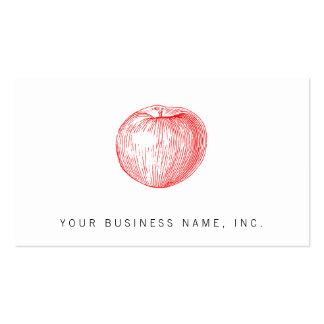 Prensa de copiar roja Apple de Apple de caramelo Tarjetas De Visita