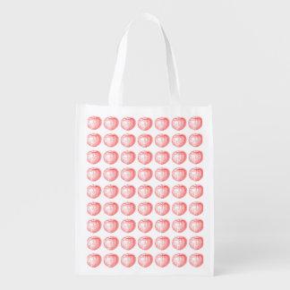 Prensa de copiar roja Apple de Apple de caramelo Bolsa Reutilizable