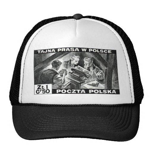 Prensa de subterráneo polaca de WWII Gorra