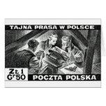 Prensa de subterráneo polaca de WWII Tarjetón