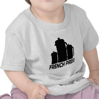 Prensa del francés camiseta