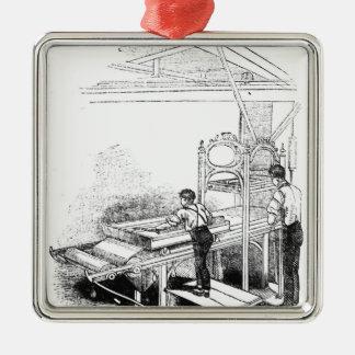 Prensa-impresión Adorno Navideño Cuadrado De Metal