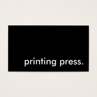 prensa tarjeta de negocios