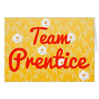 Prentice del equipo felicitación