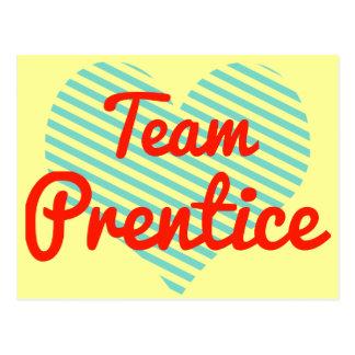 Prentice del equipo tarjetas postales