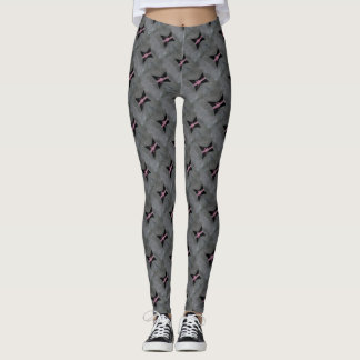 Preoccupied Black Corset Pink Ribbon Breast Cancer Leggings