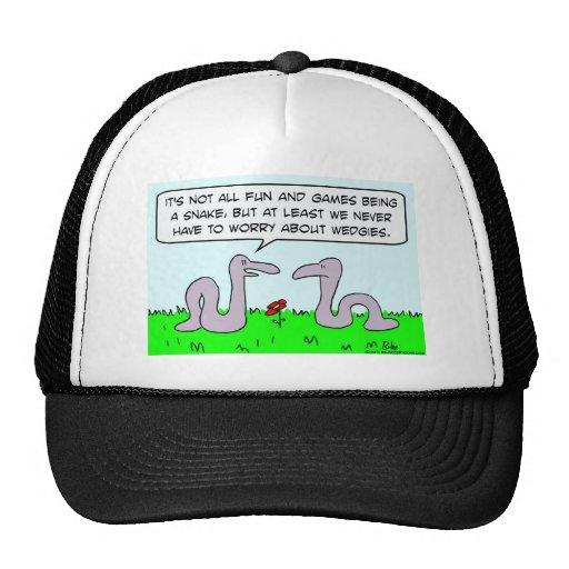 preocupación de las serpientes sobre juegos de div gorra
