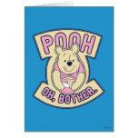 Preocupación de Winnie the Pooh el | bah oh Tarjeta De Felicitación